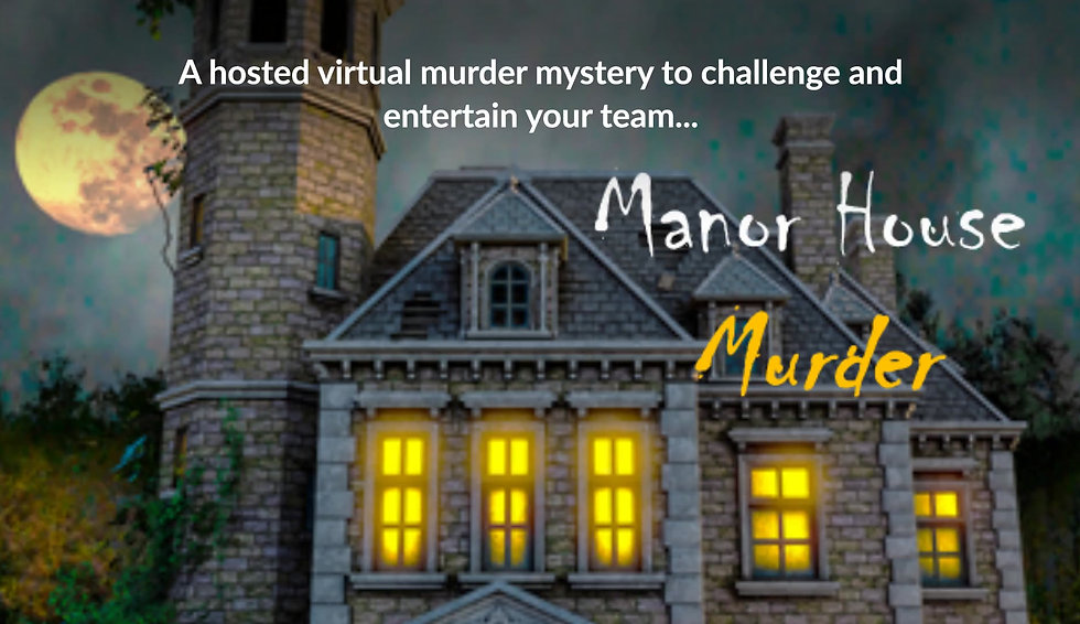 Overview of Manor House Murder - virtual team building