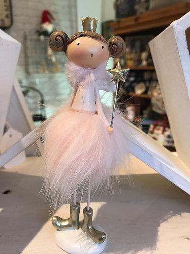 Pink Pompom Standing Ballerina
