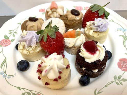 Mini cake selection