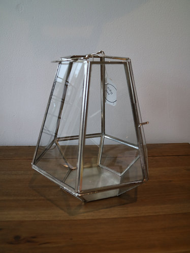 Glass Hexagon Lantern
