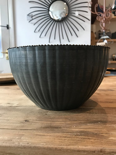 Large Zinc Bowl