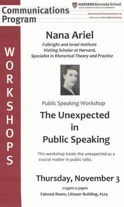 Harvard Workshop, November 2016