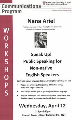 Harvard Workshop, April 2017