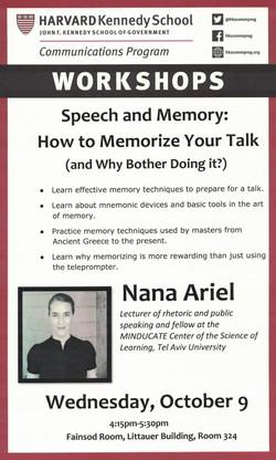 Harvard Workshop, October 2019