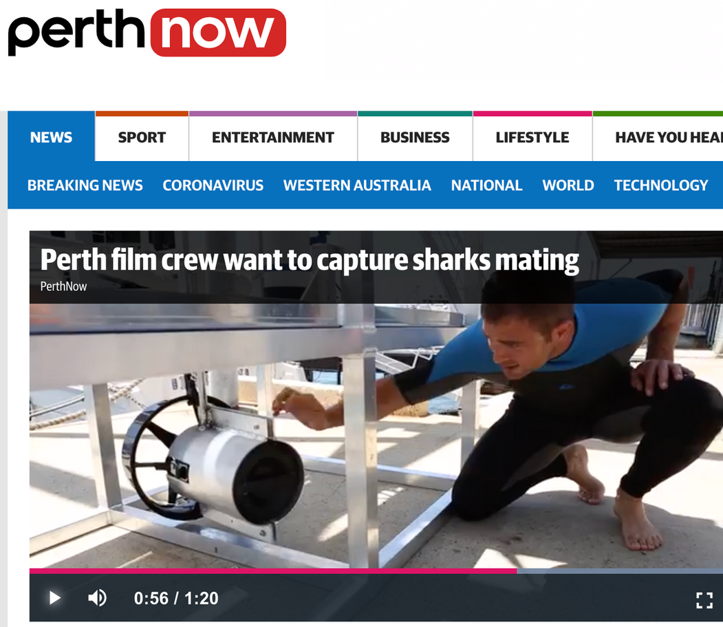 Terra Australis build world first powered shark cage to capture never filmed footage of Great Whites mating