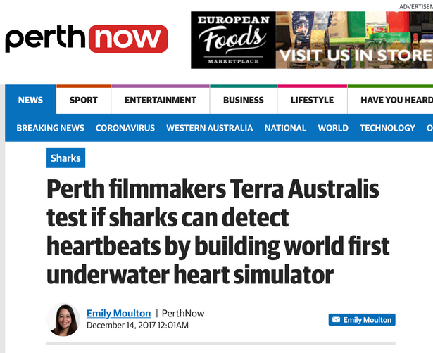 Terra Australis make a heart beat underwater