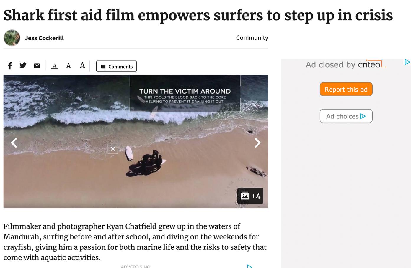 Terra Australis create shark attack first aid video