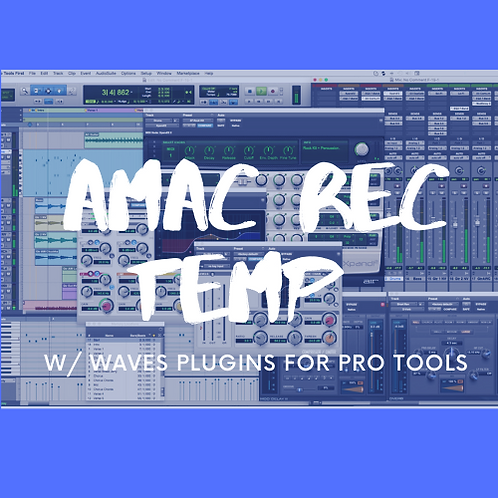 AMAC REC TEMP WAVES PLUG INS EDITION PRO TOOLS (ADVANCED)