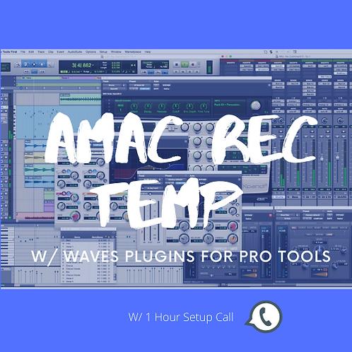 AMAC REC TEMP WAVES PLUG INS PRO TOOLS (ADVANCED) w/ 1 Hour Setup Call
