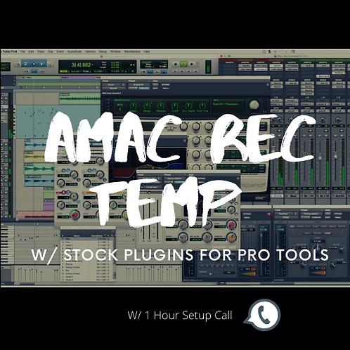 AMAC REC TEMP STOCK PLUG INS PRO TOOLS w/ 1 Hour Setup call