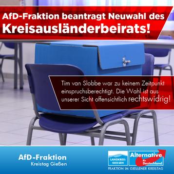 AfD fordert Neuwahl