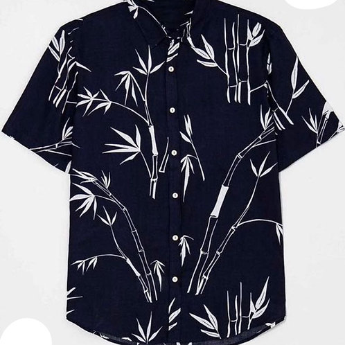 Men Black Half Sleeves Shirts
