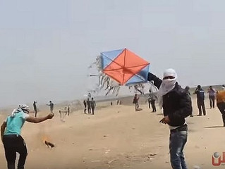 Kite Mounted Incendiary and Explosive Devices