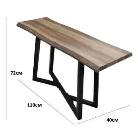 Console en bois et métal noir