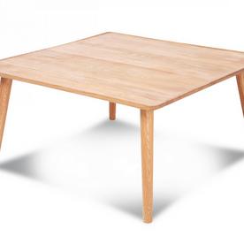 Table basse carrée en chêne massif huilé Curve