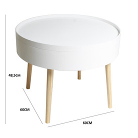 Table basse coffre blanche