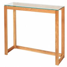 Console bureau en bois plateau en verre Nordic