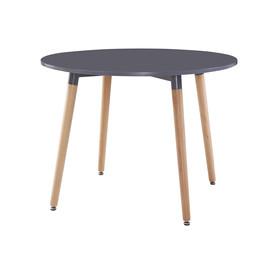 Table à manger ronde GRISE diamètre 100cm
