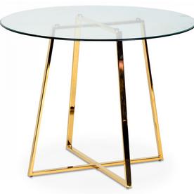 Table gold et pieds en métal Frank (D.97xH.75cm)