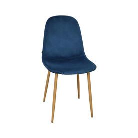 Chaise STOCKHOLM en velours vieux bleu