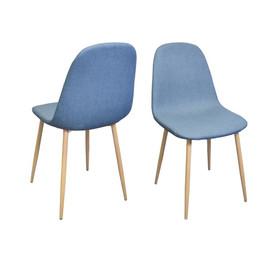 Chaise STOCKHOLM bleue en tissu