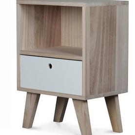 Chevet en bois scandinave 1 tiroir Boréal