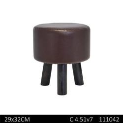Tabouret en PV pieds en bois D29 H32