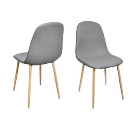 Chaise STOCKHOLM grise en tissu
