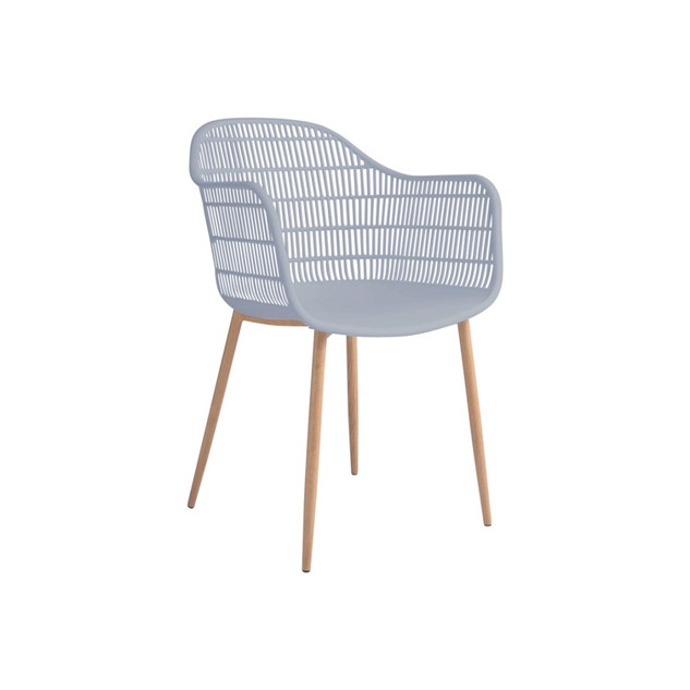 Chaise avec accoudoirs TAMY grise