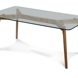 Table basse en verre et en bois Fiord.PN