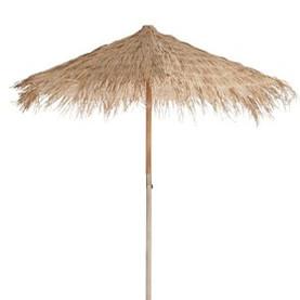 Parasol exotique en paille