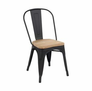 Rétro noire   Assise bois