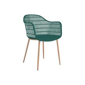 Chaise avec accoudoirs TAMY verte