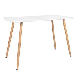 Table à manger rectangulaire BLANCHE