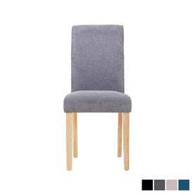 Chaise en velours suèdine CION grise