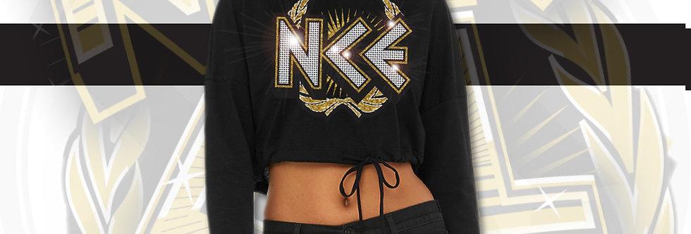 NCE Crystal Cropped Hoodie