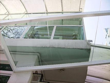 cobertura vidro laminado
