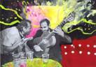 Pintura sobre foto by Gonzalo Conradi - Foto Marta Vila Aguila