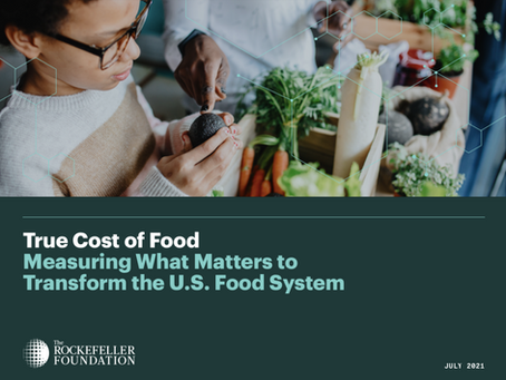 """Why """"Business As Usual"""" does not work anymore ? Have a look at the """"True"""" cost of food."""