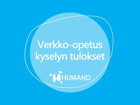 HUMAKOn verkko-opetus kyselyn tulokset julki!