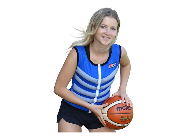 blue arctic heat ice cooling vest basket