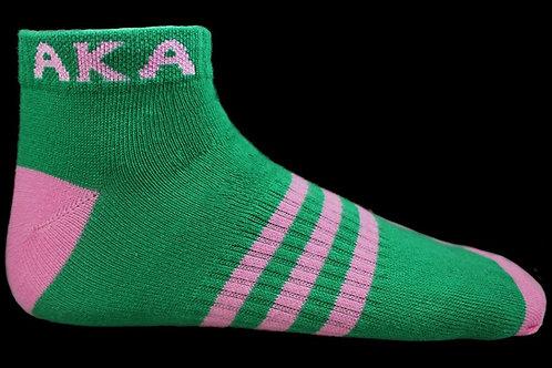 AKA Green Ankle Socks