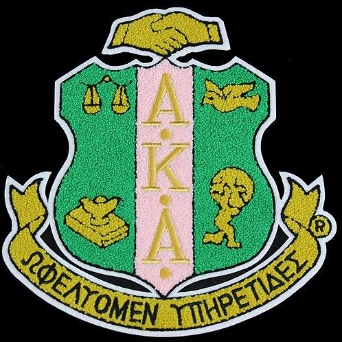 AKA Chenille Shield Emblem
