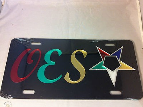 OES Black License Plate
