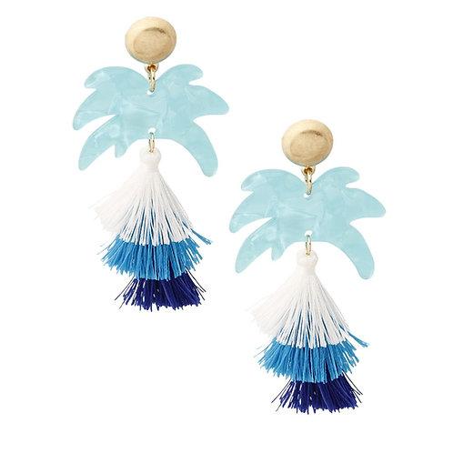 Palm Tree Tassel Earrings