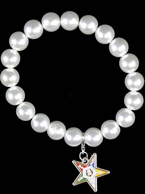 OES Pearl Bracelet with Shield