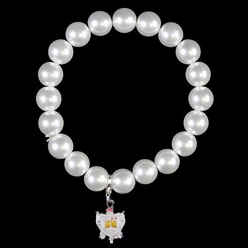 SGRho Pearl Bracelet with Shield