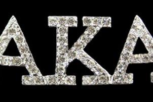 AKA Austrian Silver Crystal Pin