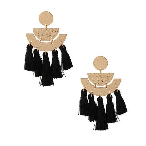 Silk Ball Tassel Drop Earrings