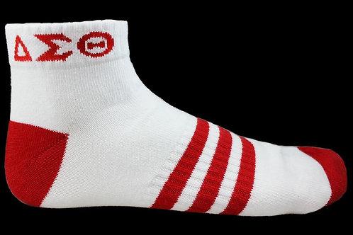 DST White Ankle Socks